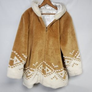Vintage Lake Matley teddy bear coat faux fur
